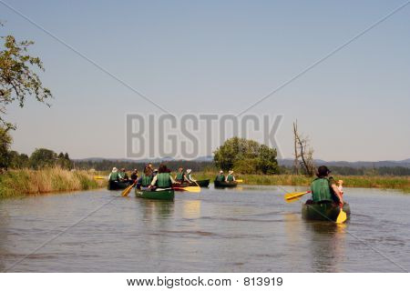 Group of Canoers