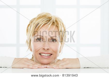 Forty years woman face