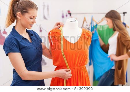 Designer Measuring Dress.