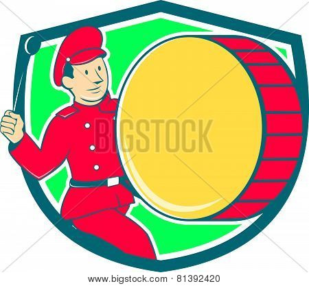 Brass Drum Drummer Marching Shield