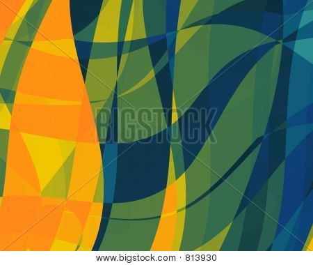 Abstract Illustration Orange-Blue