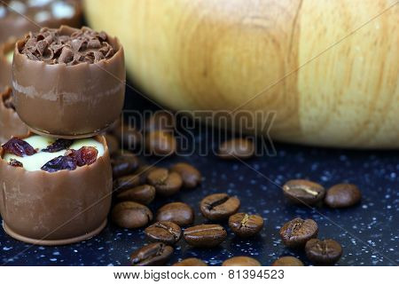 Assorted Chocolate Confectionery With Coffee Beans