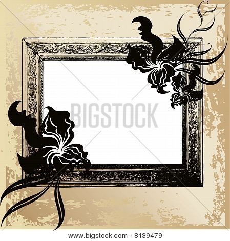 vintage frame and orchid