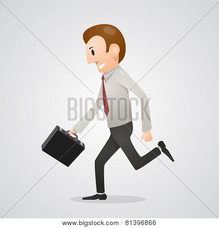 Office man running