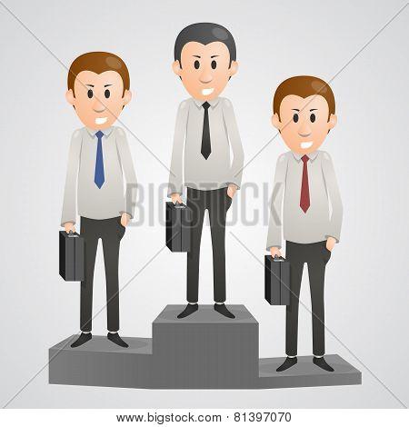 Office man on a pedestal