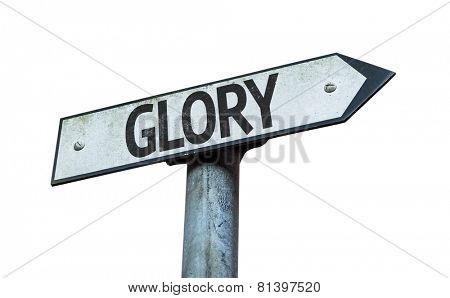 Glory sign isolated on white background