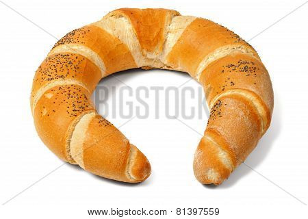 Baked Crescent On White