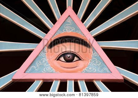 The Divine Eye Symbol Of Cao Dai Religion