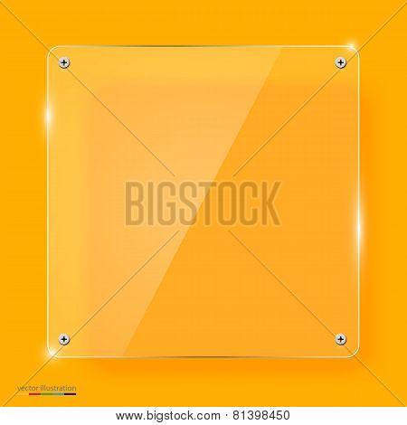 Empty transparent glass framework