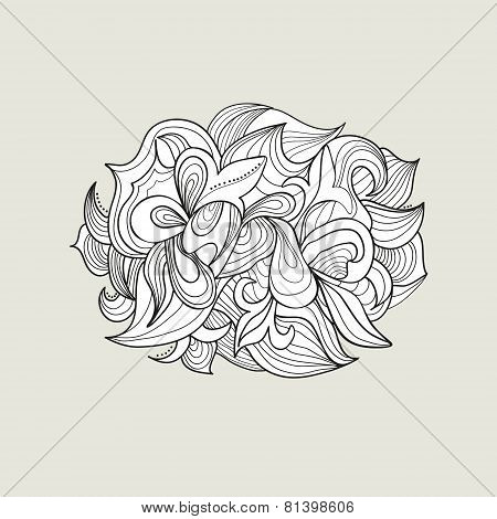 Abstract background of curls without color