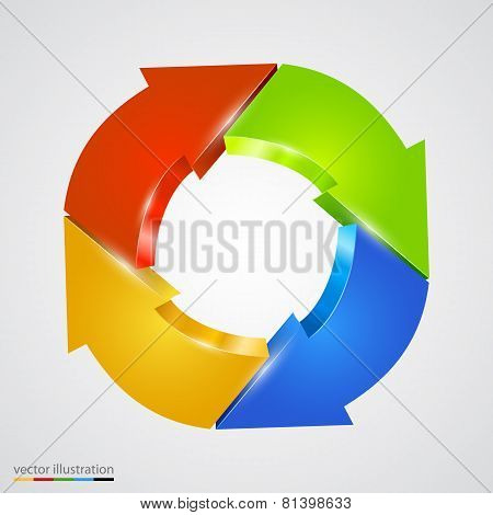 Creative arrows circle. Refresh sign.