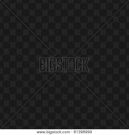 Seamless geometric background of dark curls.