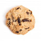 image of baked raisin cookies  - Cookies with raisins isolated on white background - JPG