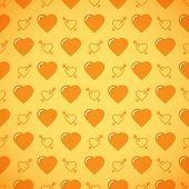 picture of avow  - Lovely heart romantic yellow pattern - JPG