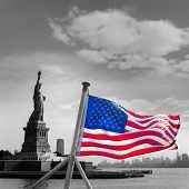 picture of statue liberty  - Statue of Liberty New York Manhattan background USA US - JPG