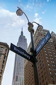 pic of broadway  - Manhattan New York city Broadway 6th Av downtown NYC US - JPG