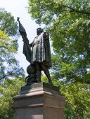 stock photo of christopher columbus  - Central Park Christopher Columbus statue Manhattan New York US - JPG