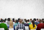 stock photo of seminar  - Seminar Conference Meeting People Learning Presentation Audience Concept - JPG