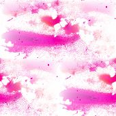 image of emo  - seamless abstract emo pink watercolor blot texture patch of isolated on white background - JPG