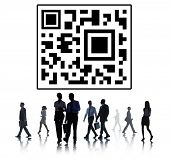 foto of qr-code  - QR Code Marketing Data Identity Concept - JPG