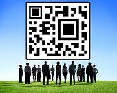 picture of qr codes  - QR Code Marketing Data Identity Concept - JPG
