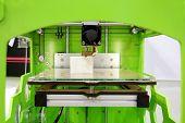picture of 3d  - 3d printer close up 3D print concept - JPG