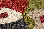 picture of urad  - assortment of beans legumes can be used as background - JPG