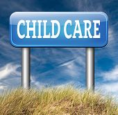 foto of babysitting  - child care center road sign in daycare or cr - JPG