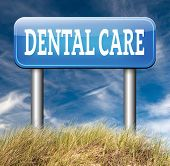 stock photo of oral  - dental care center road sign oral hygiene or surgery for healthy teeth without caries but with a beautiful smile with text