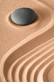 pic of harmony  - zen stone background rock and sand lines pattern for harmony serenity and relaxation in spa wellness meditation buddhism and yoga - JPG