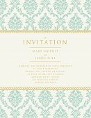 picture of damask  - Invitation to the wedding or announcements - JPG