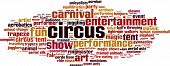 image of contortion  - Circus Word Cloud Concept - JPG