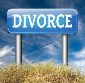picture of divorce-papers  - divorce papers or document by lawyer to end marriage dissolution often after domestic violence alimony  - JPG