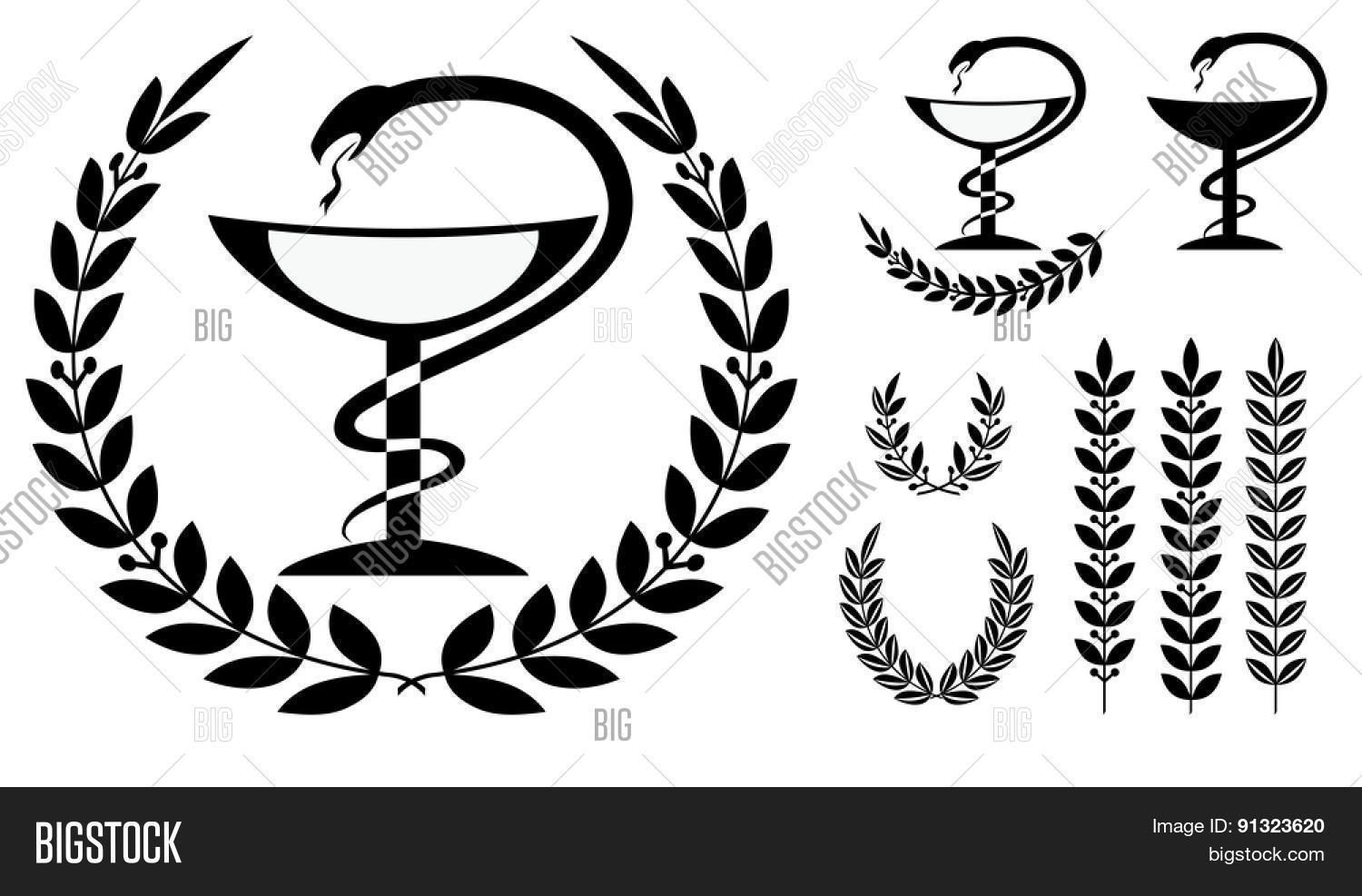 pharmacy symbol medical snake cup vector amp photo bigstock