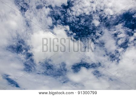 White Cloud On Clear Blue Sky