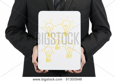Business innovation concept on whiteboard