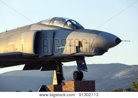Phantom F4 Fighter At Veterans Memorial In Susanville