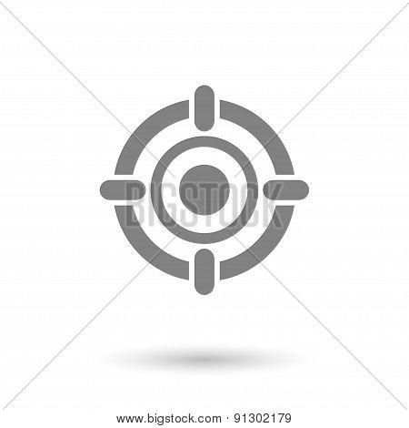 Flat Target Icon Background