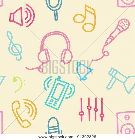Sound seamless pattern