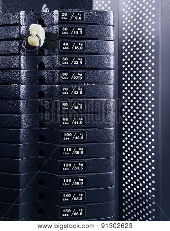 Weight Stack Close Up
