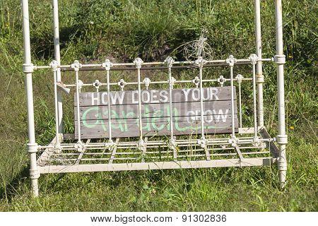 Bed Frame Signage Humor