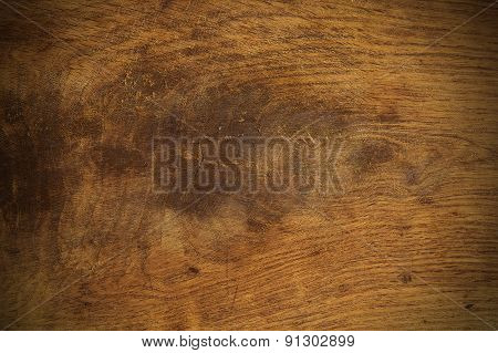 Old Wood Texture Background Furrowed With Knife