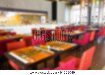 Abstract blur restaurant background