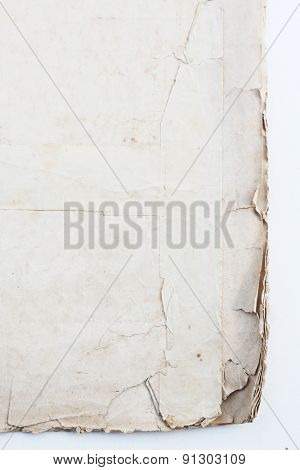 old parchment isolated on white.