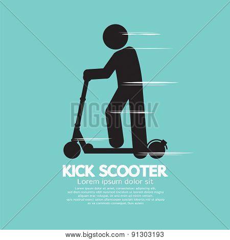 Kick Scooter Black Symbol.