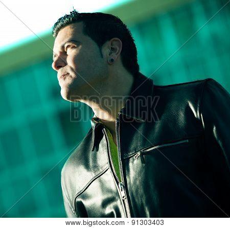 Fashion man portrait concept.