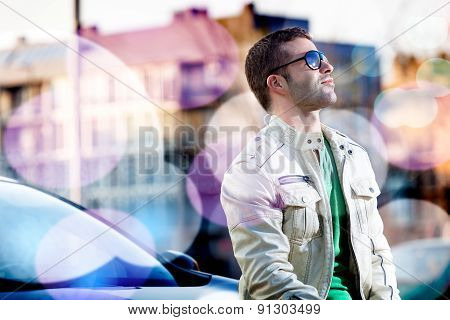 Man portrait in the city