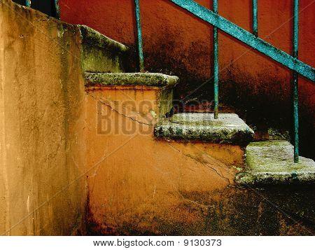 Cracked Vintage Stairway