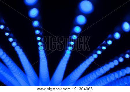 Led bulbs.Digital screen detail