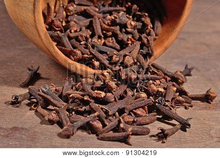 Dried Clove In A Bowl